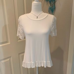 Altar'd State lace sleeve flowy tee